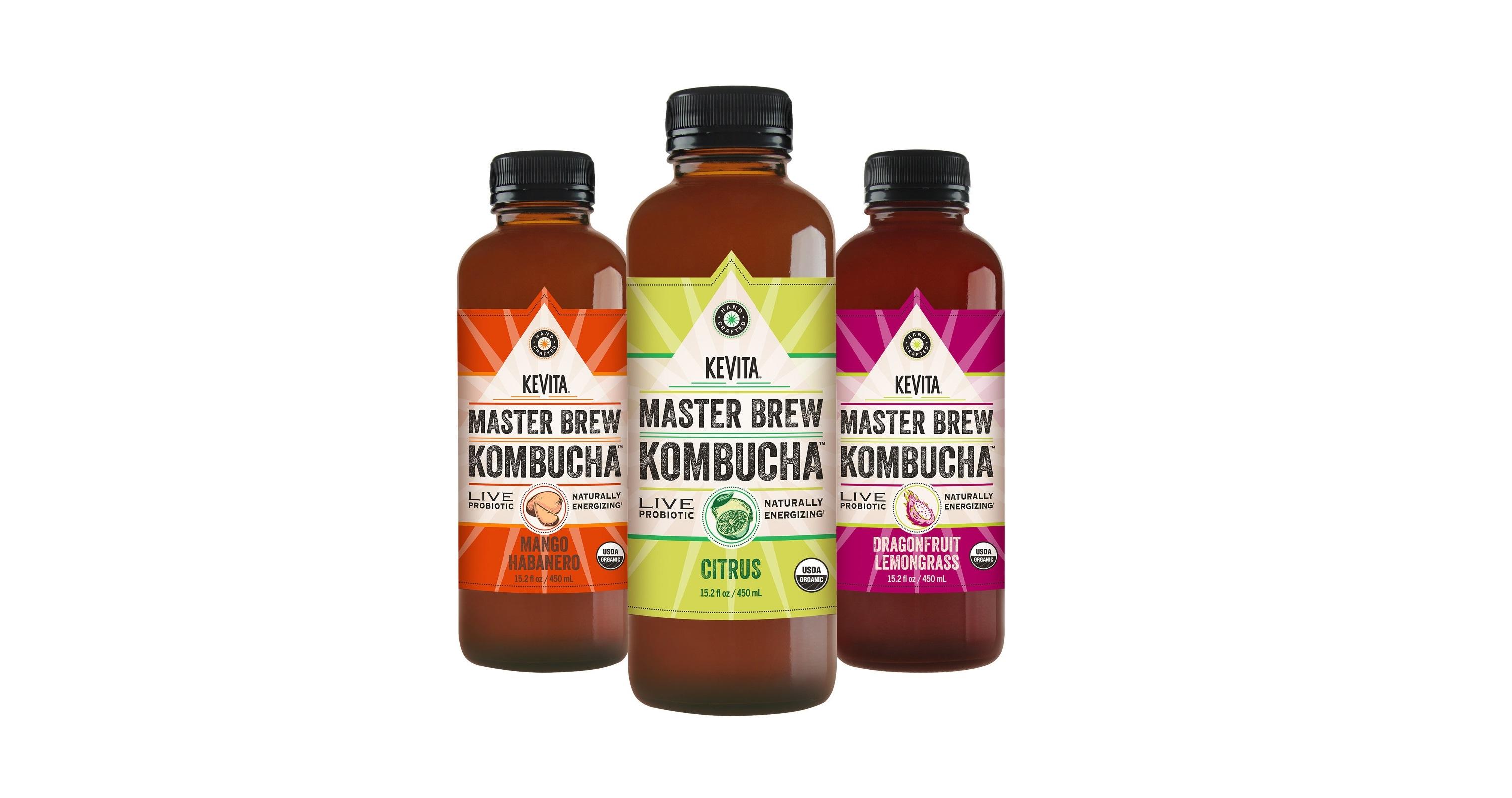 KeVita Introduces Three New Master Brew Kombucha Flavors