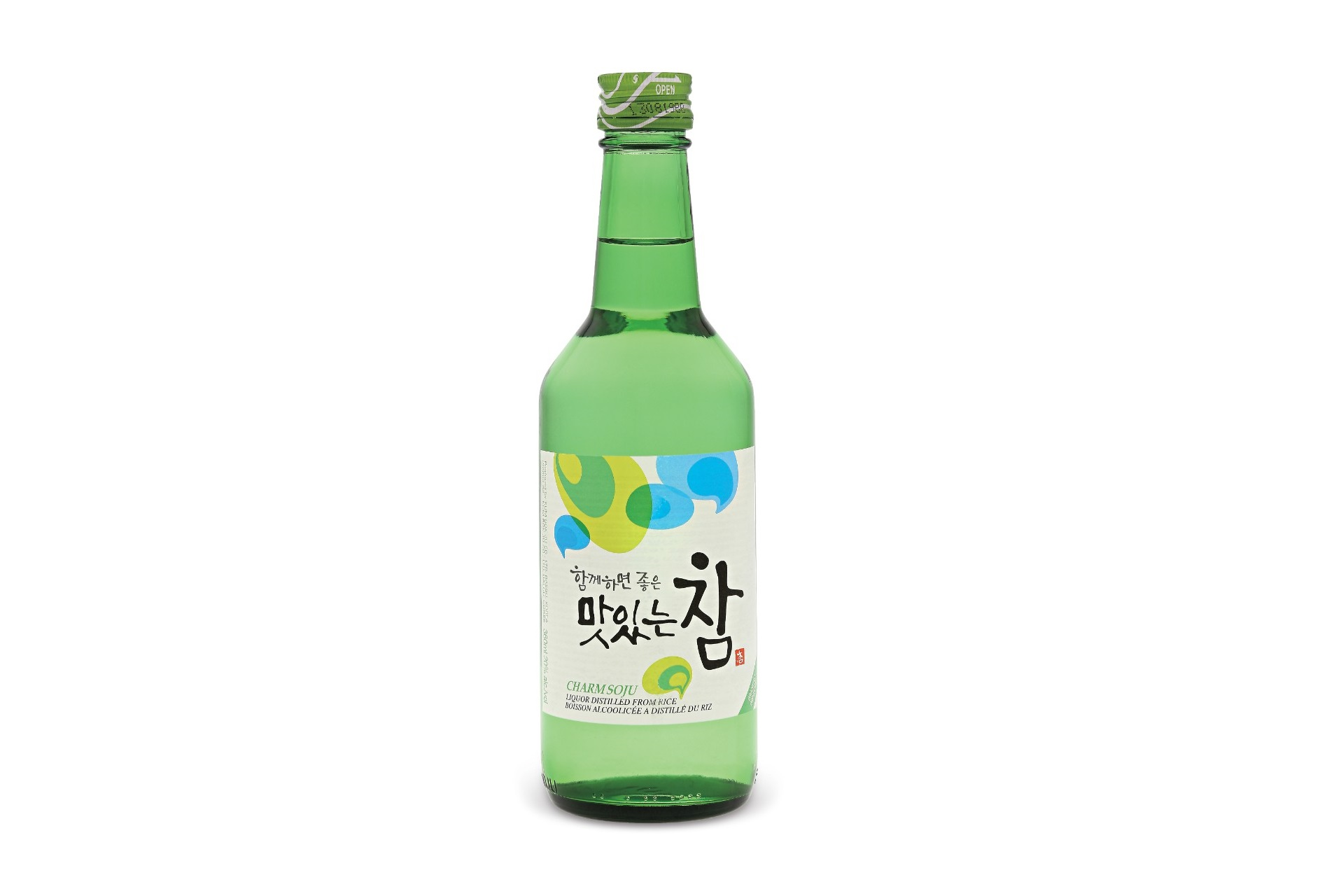 Traditional South Korean Alcoholic Drink Charm Soju