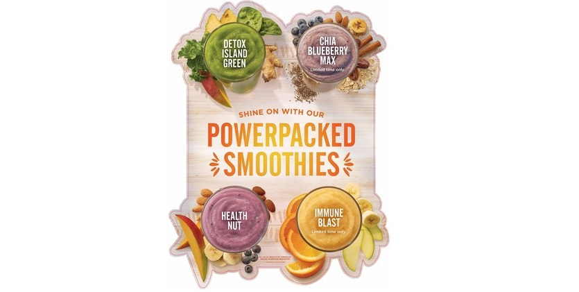 New Supergreen Caesar and four Powerpacked Smoothies