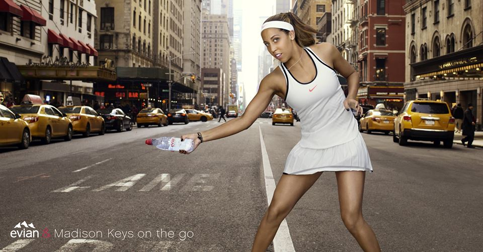 evian Launches Sport Cap with Madison Keys