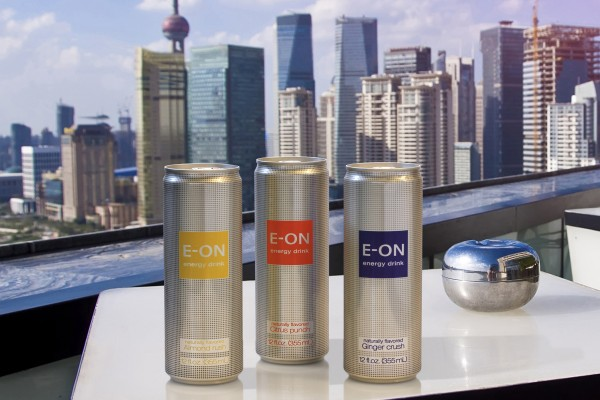 E-ON premium energy drink launches in Rexam 12 oz. Sleek® cans