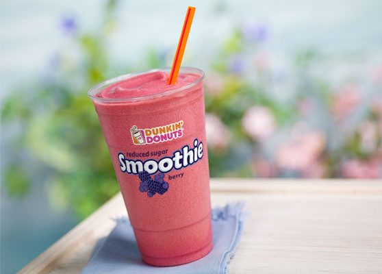 Dunkin' Donuts Serves New Wildberry Smoothie