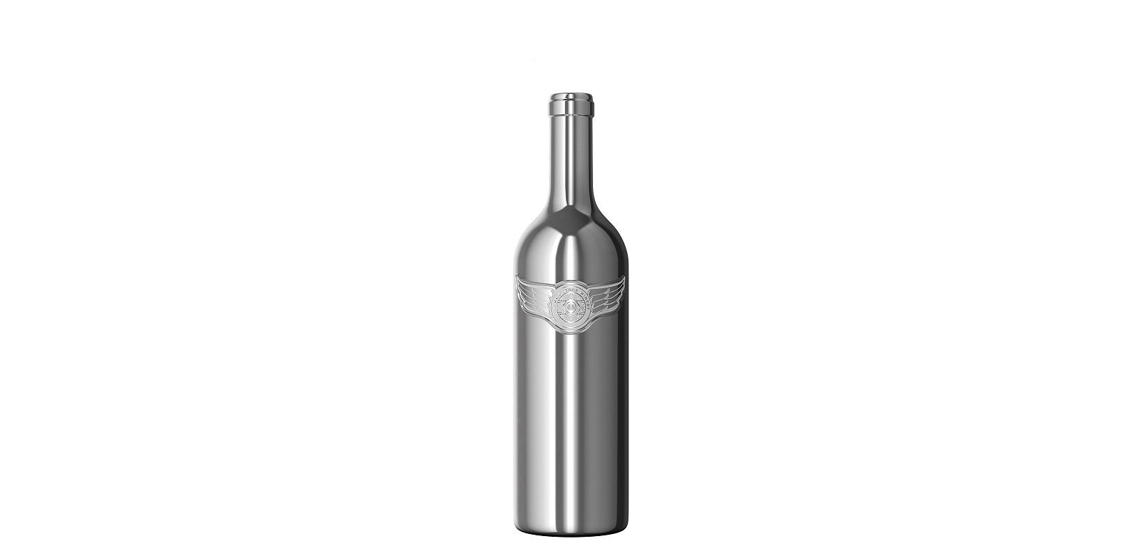 World's First Chromed-Glass Wine Bottle