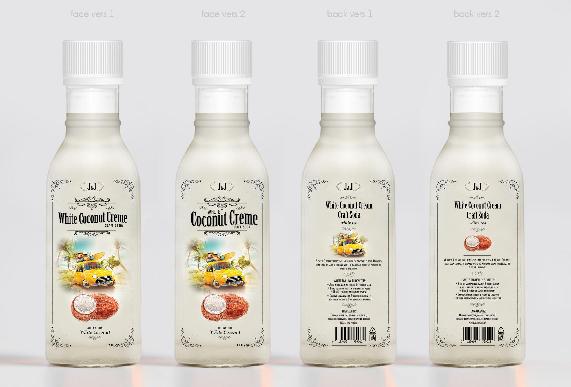 Bottle label design by lamadesign for J&J Craft Soda