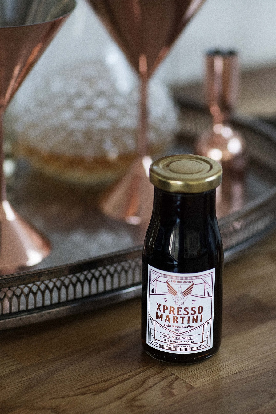 Coffee Cocktail Indulgence in a Bottle – The Club Belmont Xpresso Martini