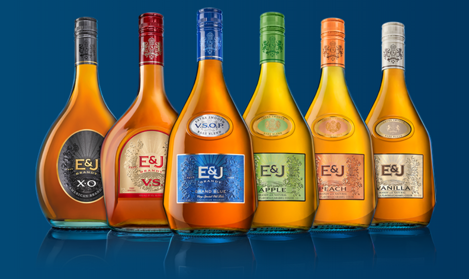 E&J Brandy Remasters Its Look With New Packaging