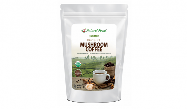 Z Natural Foods Launches Organic Instant Mushroom Coffee